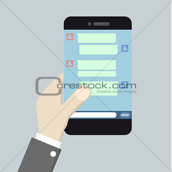smartphone texting message