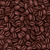 Seamless texture of coffee beans