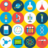 Yellow Tile Science Background Circles