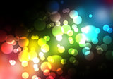 Glittering blurry lights against a black background