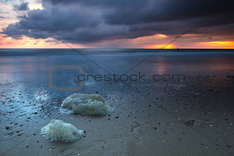Beautiful long exposure sunset