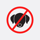 No dog allowed vector sign