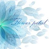 Floral round pattern blue flower petals