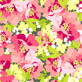 Floral seamless pattern with Flowers wild rose