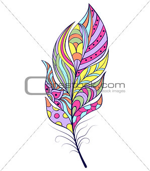 abstract feather on white background