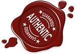 Authentic label seal