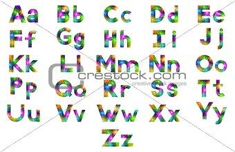 Alphabet, Set of Letters, Firework