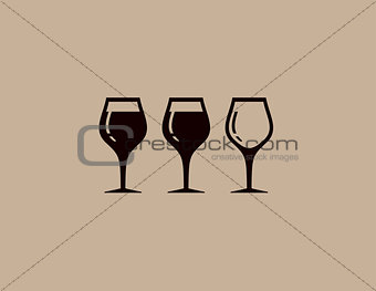background with tree wine glass