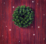 Christmas wreath card.