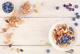 Granola yogurt breakfast.