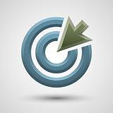 Target arrow icon.