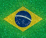 brazil flag with glitter effect