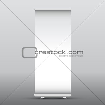 Blank roll up advertising banner