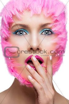Closeup beauty shot of girl