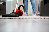 Clean floors after cleaning. Home hygiene