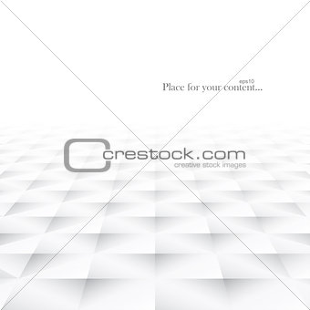 Abstract background with white geometric shapes.
