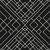 Grid black background - seamless pattern.