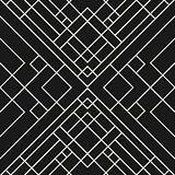 Grid black background - seamless pattern.