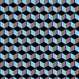 3d cubes - seamless vector pattern.