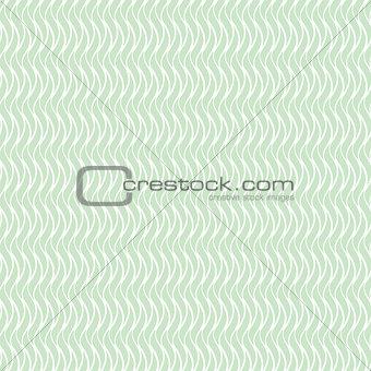 Green wavy seamless floral pattern.