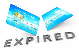 expired cut credit card