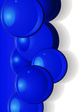 Dark blue glossy spheres portrait