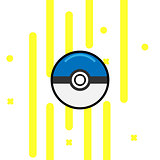 Vector game ball for play in team. Pokeball object