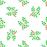 Green Cartoon Tree Leaves Seamless Background