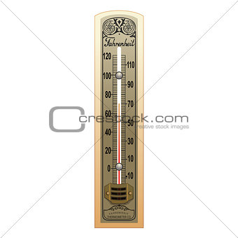 Old Thermometer Illustration