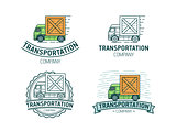 Set of transportation logo