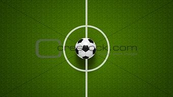Football ball on field #2