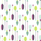 Tribal arrow seamless pattern.