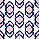 Ikat geometric seamless pattern. Pink and blue collection.