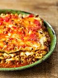 rustic italian cheesy lasagna pasta