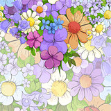 Floral bright background
