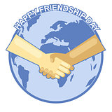 Happy friendship day card. 4 August