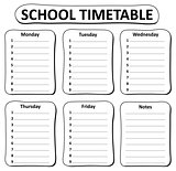 Black and white school timetable theme 1
