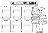 Black and white school timetable theme 2