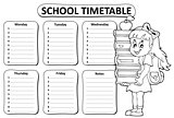 Black and white school timetable theme 3