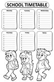 Black and white school timetable theme 5