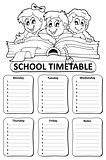 Black and white school timetable theme 6