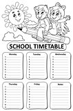 Black and white school timetable theme 7