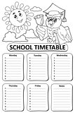 Black and white school timetable theme 8