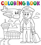 Coloring book aviation theme 1