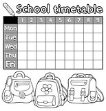 Coloring book timetable topic 5