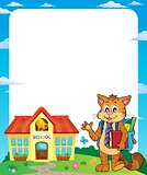 School cat theme frame 1