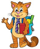 School cat theme image 1