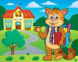 School cat theme image 2