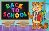 School cat theme image 3