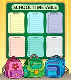 Weekly school timetable composition 7